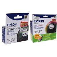 �燮丈�原�b EPSON T026黑色墨盒 T027彩色墨盒 �燮丈�EPSON Photo810 830 830U 925