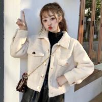 羽绒服 新品女女冬装2018新款韩版加厚短款服宽松棉衣外套学生 均码