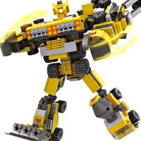 积木玩具 儿童塑料拼装拼插3-6岁军事男孩组装