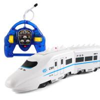 儿童玩具火车男孩轨道电动仿真遥控火车超大号动车高铁模型和谐号