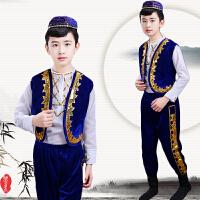 儿童演出服阿凡提舞蹈服新疆维吾尔族印度表演服装男