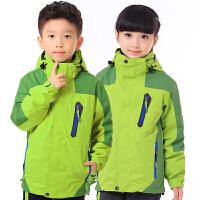 儿童冲锋衣女男三合一可拆卸男童女童大童户外两件套冲锋衣