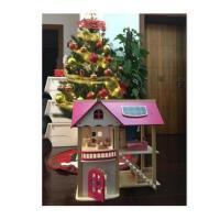 木质diy小屋娃娃房子别墅女童过家家玩具3-7岁4-5-6岁益智大礼包