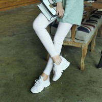 O'SHELL欧希尔新品026-B12-24休闲混合材质内增高女士休闲鞋