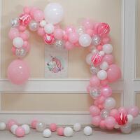 宝宝儿童生日派对布置用品商场活动开业节庆黑色系气球链装饰