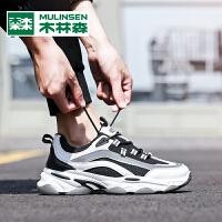 木林森2020新款耐磨减震时尚男士老爹鞋百搭跑步运动休闲鞋男鞋