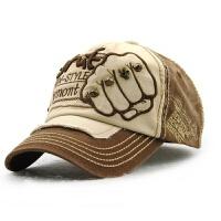 男女士帽子圆顶棒球帽牛仔纯棉布时尚户外遮阳休闲帽街头鸭舌帽潮 可调节