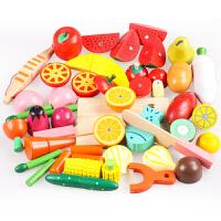 切水果玩具宝宝木质仿真过家家套装儿童木制磁性蔬菜切切乐
