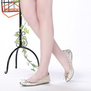 达芙妮旗下SHOEBOX/鞋柜尖头平底浅口透气柔软时尚蝴蝶结单鞋