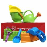 儿童节礼物 男孩长城儿童沙滩玩具铲套装桶1-2-6岁宝宝大号男孩小桶沙漏组合 新长城水壶8件套装