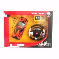 新品兰博基尼毒药敞篷遥控跑车玩具开门充电重力感应高速漂移 橙色 一组电池装