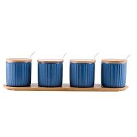 日式陶瓷调味罐 厨房调料盒家用佐料调味盒盐罐套装调味品收纳盒
