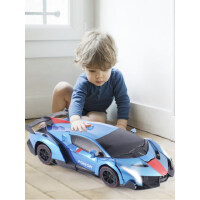 遥控变形车感应变形汽车金刚无线遥控车机器人充电动男孩儿童玩具.