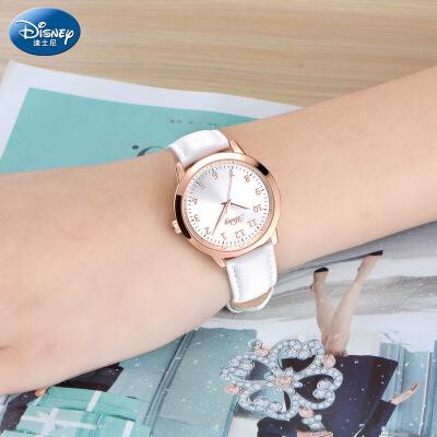 迪士尼中学生手表女孩儿童手表女生手表防水女童石英夜光少女手表