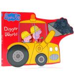 Peppa Pig: Digger World 挖掘机的世界 英文原版 儿童启蒙异形纸板书 粉红猪小妹佩佩猪佩奇系列