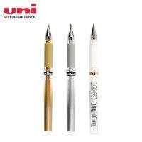 三菱UM-153高光笔金银白色黑纸用中性笔 婚礼会议手绘1.0签名笔