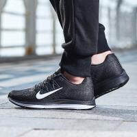 Nike耐克女鞋跑步鞋2018新款ZOOM气垫网面透气飞线运动鞋AA7414