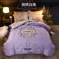 床上四件套纯棉全棉简约1.8m床秋冬少女心网红双人被套ins风床单