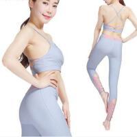 瑜伽服健身运动女士瑜伽健身服运动背心带胸垫防震抹胸户外时尚