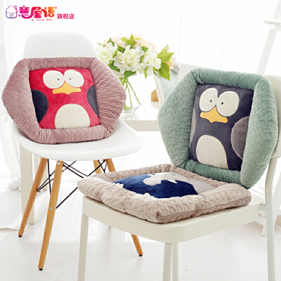 四季通用毛绒坐垫靠垫办公室保暖学生餐椅垫防滑简约现代垫子