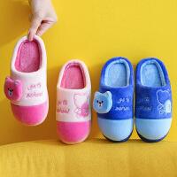 儿童棉拖鞋女童卡通男童棉鞋冬季保暖防滑大小童鞋包跟家居鞋新款