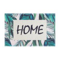 家用进门垫子双色丝圈地垫 防滑除尘玄关入户门厅厨房蹭脚垫地毯SN7139 宝蓝色 手绘几何元素
