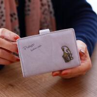 七夕礼物女士迷你小卡包韩版多卡位卡通信用多卡位薄款大容量潮20卡位 浅紫