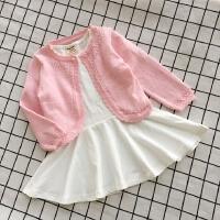 一粒扣宝宝小披肩薄款夏女童镂空针织衫短款小外套婴儿小童空调衫