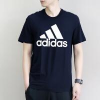 adidas阿迪达斯2018夏季新款男子运动休闲透气圆领短袖T恤CW3804