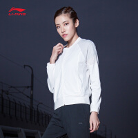 李宁卫衣女士新款运动生活系列开衫长袖立领薄款夏季运动服AWDN142