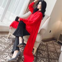 2018新款女装春装气质不规则雪纺长袖衬衫上衣社会女衣服 蝙蝠袖