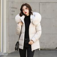 【满121-120到手价:269元】高梵羽绒服女中长款大毛领2019新款潮流学生保暖冬季时尚简约外套