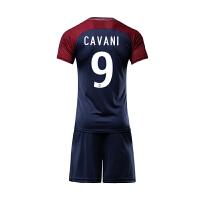 -18赛季男足球服套装巴黎圣日耳曼主场球衣10号内马尔9号卡瓦尼比赛服队服印字印号 9号 瓦罗