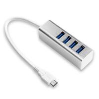 现代(HYUNDAI)HY-333 3.1 HUB集线器/USB 3.1 Type-C转四口3.0 HUB线 铝合金外