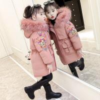 女童羽绒棉衣中大童儿童冬装袄外套