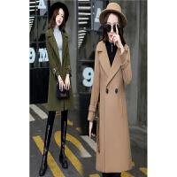 毛呢外套女中长款韩版新款修身显瘦原宿秋冬款小香风呢子大衣