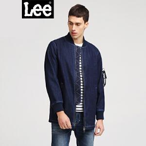 Lee男款2018新品牛仔蓝长袖夹克L301763JL7RD