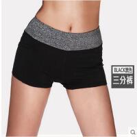 简约拼色舒适松紧腰百搭短裤女士运动裤薄款速干跑步健身瑜伽裤三分裤