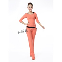 春夏莫代尔瑜伽服三件套套装初学者专业运动女性舞蹈服跑步健身服