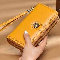新款女士长款钱包双拉链大容量多功能钱夹女式手包