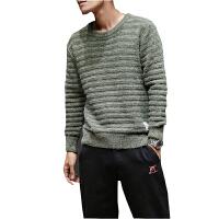 冬季外套男士毛衣韩版潮流圆领毛线衣青年套头学生宽松针织衫男