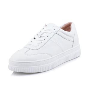 O'SHELL法国欧希尔新品065-96011-1休闲头层牛皮里外全皮真皮平底女士板鞋小白鞋