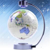 七夕礼物 8寸大号磁悬浮地球仪欧式发光自转办公桌摆件创意礼品定制 8寸单管白色中文自转