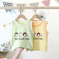 婴儿童装男童背心夏装儿童无袖t恤宝宝夏季小童夏天