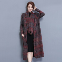 8879兰婷冬装新款女装毛衣外套中长款宽松大码羊毛针织开外套 均码