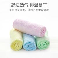 欧孕宝宝竹纤维小方巾六条装婴儿口水巾围嘴夏季薄款洗脸巾脱脂小手帕