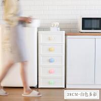 多层收纳柜儿童宝宝衣柜五层塑料抽屉式收纳柜子储物柜夹缝置物柜