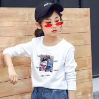 女童长袖t恤春装童装上衣纯棉中大童儿童打底衫