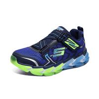 斯凯奇(Skechers)男童鞋撞色Z型搭带缓震防滑休闲运动鞋 97727L