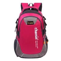 七夕礼物时尚男女户外登山旅游防水可折叠牛津布拉链双肩背包可定制 红色 36-55L